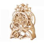 Оригинал 3D Самосборка Деревянный Маятник Часы Механический Gears Building Kits Головоломки Здание Модель Подарок