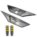 Оригинал Дым Черный Авто Боковые габаритные огни Объектив Крышка Лист Борт Лампа с желтым T10 LED Лампы для Honda Civic 2016-2018
