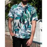 Оригинал Mens Hawaiian Печатный с коротким рукавом Лето Повседневная Свободная Рубашка