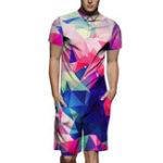 Оригинал Fashion Street Gradient Colorful Набор смешных печатных комбинезонов