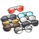 Оригинал KCASA Fashion Men Женское Punk Ретро круглые солнцезащитные очки