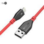 Оригинал BlitzWolf®BW-MF112.4AСовместимыйсмолнией кабель для быстрой зарядки данных 3x3ft для iPhone X XR XS Max iPad Mini Pro
