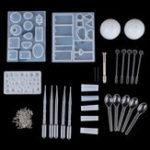 Оригинал 77PCS DIY Браслет Кулон Epoxy Mold Set Ювелирные изделия Кулон Mold Craft