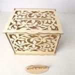 Оригинал Свадебная открытка Коробка с Замок DIY деньги деревянный подарок Лист Коробкаes на день рождения