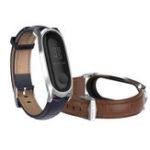 Оригинал Mijobs Кожаный Ремешок для Часов Замена Стандарты для Xiaomi Mi band 3 Smart Watch