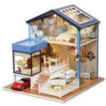 Оригинал DIY Кукольный Домик Миниатюрный Набор Кукольный Домик С Мебелью Подарок Craft Игрушка
