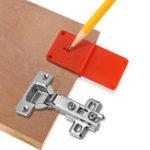 Оригинал 35мм 40мм Отверстие для шарнирных отверстий Шаблон для открывания отверстий Шаблон дверных шкафов DIY Инструмент Для деревообработки Инстру