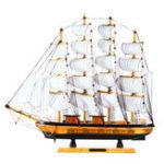 Оригинал Мини Ручной Деревянные Парусные Лодки Модель В Сборе Морской Корабль Шхуна Лодка Украшения Подарок