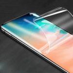 Оригинал 2пакетаKisscase10Dизогнутыйкрай протектор экрана гидрогеля для Samsung Galaxy S10 6.1 дюймов Поддержка ультразвуковой разблокировки отпечатков па