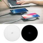 Оригинал Baseus 10 Вт Qi Беспроводное зарядное устройство Быстрая зарядка Закаленное стекло Панель телефона Держатель для iPhone Samsung Huawei Xiaomi Oppo Vivo Смартфо