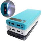 Оригинал Bakeey Type C Входной порт USB 8 x 18650 2000 мА LED Дисплей Power Bank Чехол Для iPhone X XR XS Xiaomi Mi9 HUAWEI P30 S10