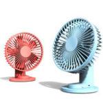 Оригинал XiaomiVHMiniUSBDesktopКлип Охлаждающий вентилятор 3 режима Охладитель скорости ветра 2000 мАч На открытом воздухе Travel