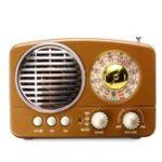 Оригинал Ретро стерео Wireless Радио Динамик Bluetooth Гарнитура FM AM SW USB AUX TF Карта MP3 Мультимедиа Приемник Плеер