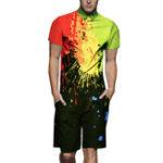 Оригинал Mens Fashion Street Шаблон Комплект для печати Rompers Комбинезон