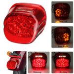 Оригинал Задний фонарь для мотоцикла, задний фонарь Лампа для Harley Dyna Fat Boy Sportster Road King Красная крышка