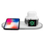 Оригинал 3 в 1 10W QI Беспроводное зарядное устройство Подставка для быстрой зарядки для iPhone Xs / Xr / Xs для Samsung Galaxy S9/S9