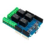 Оригинал 5 шт. 4-канальный 5V Релейный Модуль Реле Управления Щит Реле Платы Расширения Для Arduino