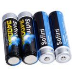Оригинал 4шт Sofirn 3,7 В 3400 мАч 18650 Батарея литий-ионный аккумулятор Батарея