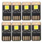 Оригинал 8 ШТ. Мини USB 0.6 Вт Белый Сенсорный Затемнение Кемпинг LED Жесткая Полоса Света Ночь Лампа DC5V
