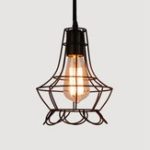 Оригинал Nordic Style Retro E27 Металл Кулон Клетка Свет для бара Кафе Крытый Подвесной Лампа Декор