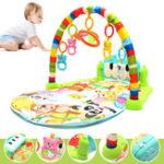 Оригинал FootPlayPianoМузыкальнаяКолыбельнаяДетская Активность Playmat Спортзал Игрушка Soft Baby Play Mat