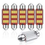Оригинал Audew C5W 4014 SMD LED Гирлянда Dome Lights License Пластина Лампы 12В 2.7W 4882K Белые 6PCS Набор