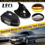 Оригинал Крышка зеркала заднего вида со стороны автомобиля Кабина с индикатором указателя поворота LED для VW B7 Sagitar Scirocco Beetle