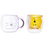 Оригинал Cat Bear Стеклянная Чашка Двойная Стена Ясно Чай Кофейное Молоко Напиток Кружка Контейнер Декор