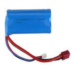 Оригинал Wltoys 7,4 В 1500 мАч 15C 2S Li-ion Батарея T Plug для L212 L969 1/12 Rc Авто Модель Запчасти