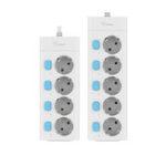 Оригинал BULL 16A 4/5-контактный независимый выключатель AC Универсальные розетки Plug Home Разъем EU Plug Удлинитель удлинитель для защиты от перегрузки
