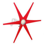 Оригинал Ветровая турбина 800 Вт 6 Лопасти Красный ветрогенератор постоянного тока 12 В / 24 В Высокая мощность ветра
