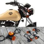 Оригинал Универсальный 4шт ретро мотоцикл велосипед мигалкой черный передний задний указатель поворота указателей поворота
