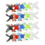 Оригинал 10 пар KINGKONG / LDARC 40-миллиметровый прозрачный пропеллер с 4 лопастями 1,5 мм для Beta75X RC Дрон