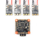 Оригинал SKYSTARS BetaFlight F405 Контроллер полета AIO OSD & 4 PCS 50A Blheli_32 3-6S DSHOT1200 Бесколлекторный ESC для RC Дрон R883 Racing