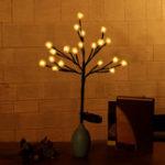 Оригинал Открытый Водонепроницаемы Солнечная Powered Pinecone Shape Tree Branch LED Строка Праздник Свет для Патио Декор