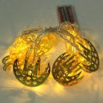 Оригинал 1.65M Ид Мубарак Праздничный Декор LED Замок String Light Праздник Лампа для Свадебное Рамадан Украшение