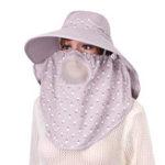 Оригинал Женская съемная защита лица Breathable Sun Шапка