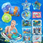 Оригинал Надувные игрушки Water Play Mat Младенцы Детские малыши Perfect Fun Tummy Time Play