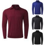 Оригинал MODCHOKHommeБыстросохнущиефутболкиMancheLongue Top Tee Сорочка Coton Повседневная классическая спортивная рубашка