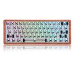 Оригинал [Деревянная версия Чехол] Подгонянный Geek GK61 с возможностью горячей замены 60% RGB Клавиатура Подгонянный Набор монтаж на печатную плату Пласт
