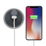 Оригинал Embedded Desk Qi Wireless Charger Fast Charging Phone Holder For iPhone Samsung Huawei Xiaomi Oppo