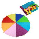 Оригинал 7M Rainbow Umbrella Детский игровой парашют Детский сад Родитель-ребенок Мероприятия Раннее обучение Зонт ралли Радуга Зонт