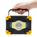 Оригинал 50WCOBLEDФарарабочегоосвещения USB Водонепроницаемы 4 режима наводнения Лампа На открытом воздухе Кемпинг Аварийный фонарь
