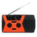 Оригинал Retekess HR12W оранжевый черный рукоятка Солнечная аварийный цифровой Дисплей Радио с FM AM NOAA SOS фонарик чтения Лампа для семьи Кемпинг На открыто