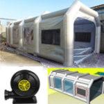 Оригинал 10x5x3.5 м Giant Авто Рабочая станция Надувная аэрозольная покрасочная камера Палатка Custom Express