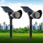 Оригинал 5 Вт Солнечная Powered 7 LED Свет газон с управлением светом На открытом воздухе Водонепроницаемы Двор Настенный пейзаж Лампа