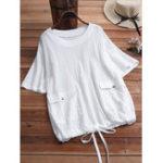 Оригинал Женская повседневная футболка с коротким рукавом и блузкой