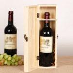 Оригинал Неокрашенные деревянные с Коробка ствол сосны одной бутылке хранения Чехол подарок