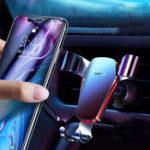 Оригинал CafeleMetalGravityLinkageAutomaticЗамок Air Vent 360º Вращение Авто Держатель для телефона для 4.0-6.5 дюймов Смартфон