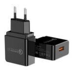 Оригинал PZOZ 18 Вт Quick Charge 3.0 USB зарядное устройство Адаптер для быстрой зарядки ЕС Plug для iPhone X XR XS Макс Xiaomi Mi8 Mi9 S9 S10 S10+